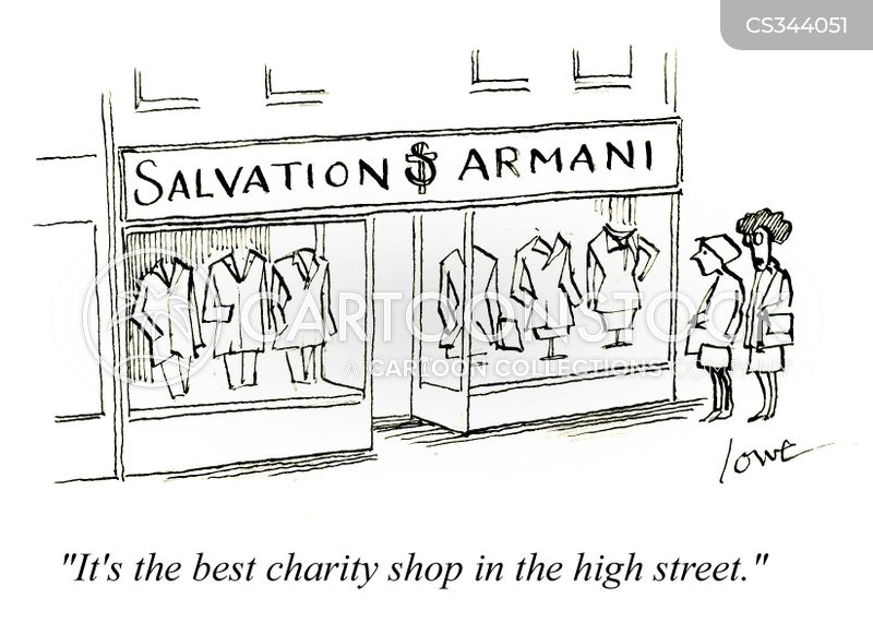 charity stores cartoon