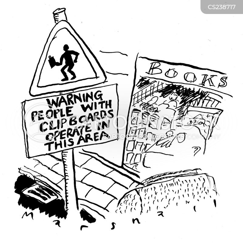street fundraiser cartoon