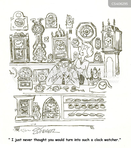 clock watcher cartoon