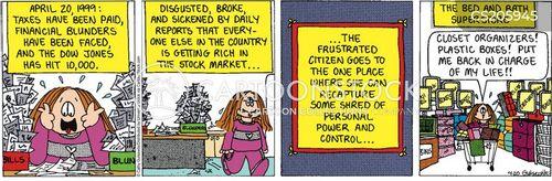 financial trouble cartoon