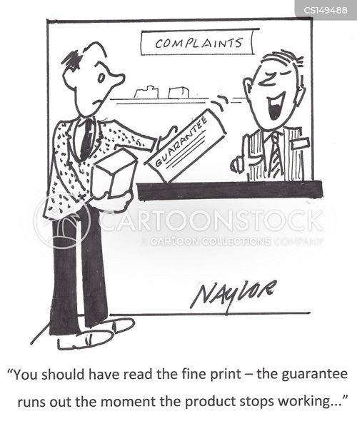 product warranty cartoon