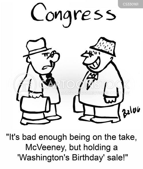 on the take cartoon