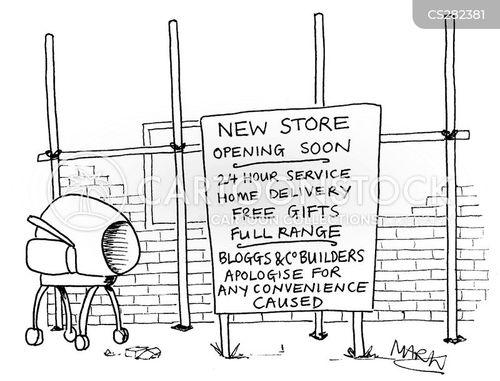 late night shopping cartoon