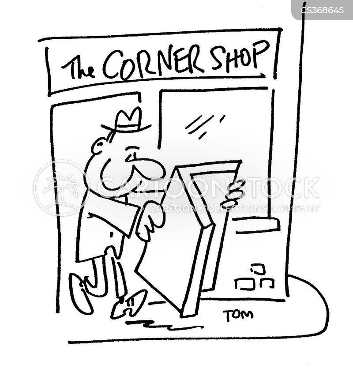 corner shop cartoon