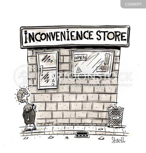 convenience shop cartoon