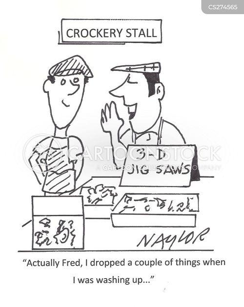 crockery store cartoon