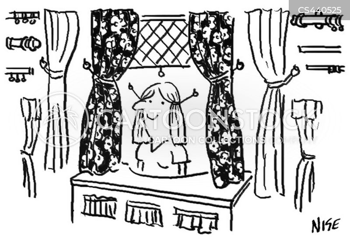 blinds cartoon