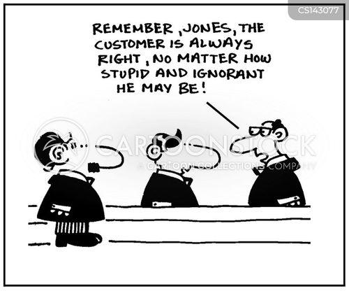 customer is always right cartoon