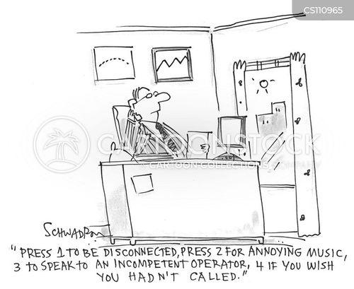 phone operator cartoon