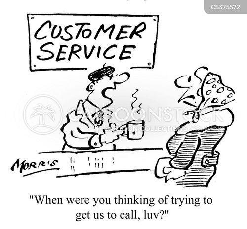 poor customer service cartoon