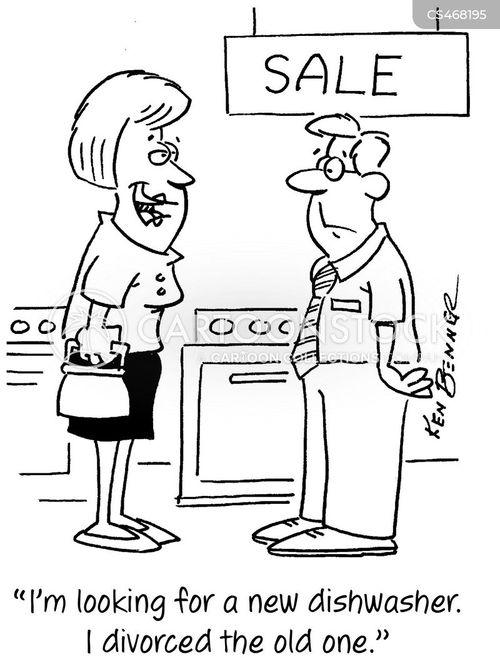 dish-washers cartoon