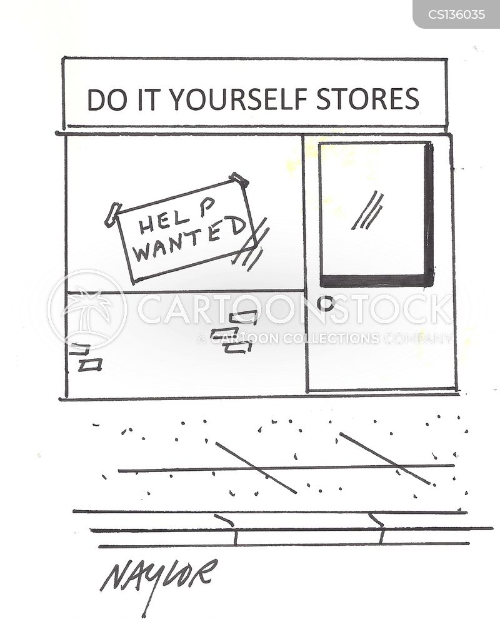 diy shops cartoon