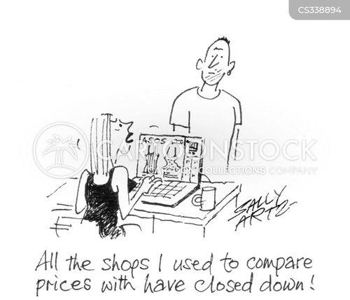 price comparisons cartoon
