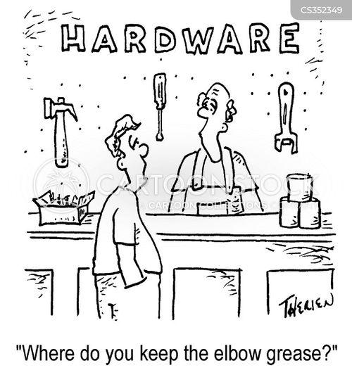 elbow grease cartoon