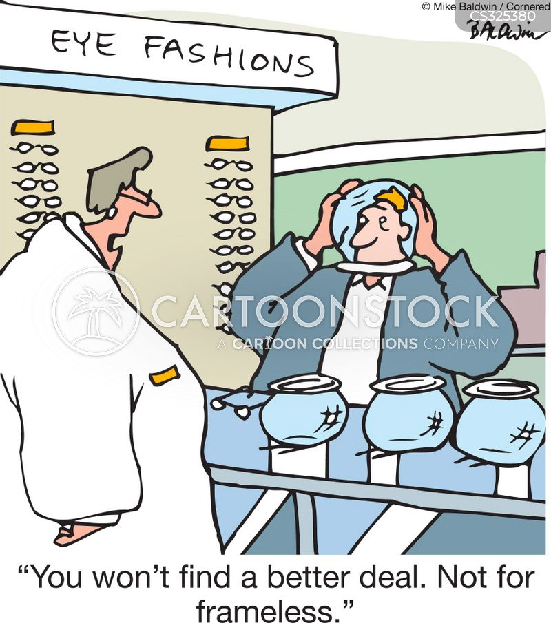 expensive eyeglass frames cartoon