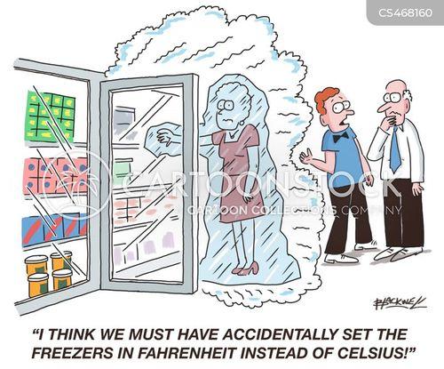 freezing temperature cartoon