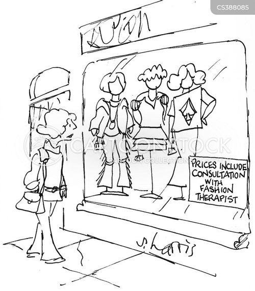 fashion consultant cartoon