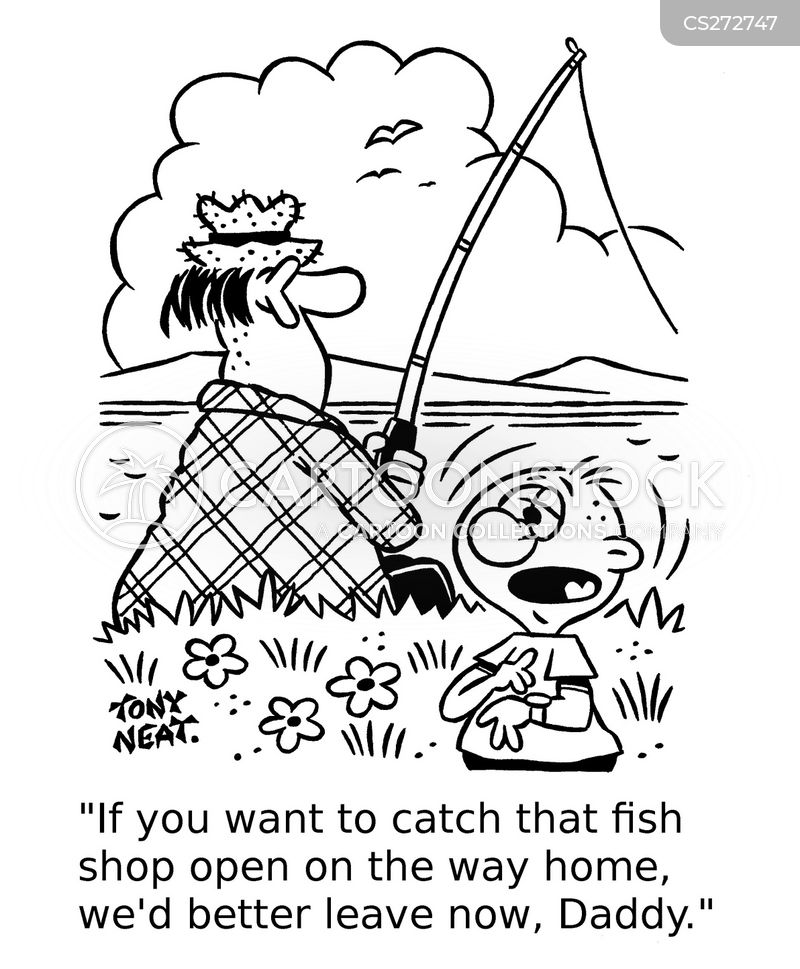 fish shops cartoon