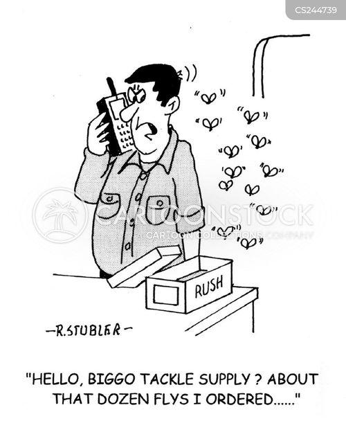 fishing tackle cartoon