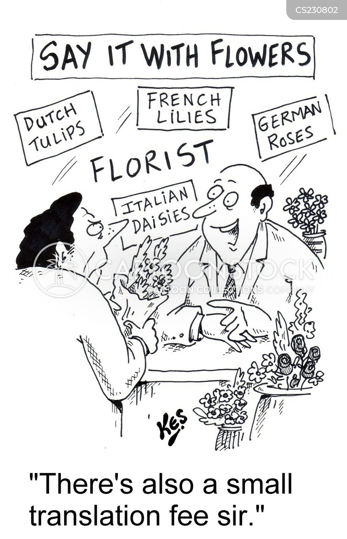 tulips cartoon