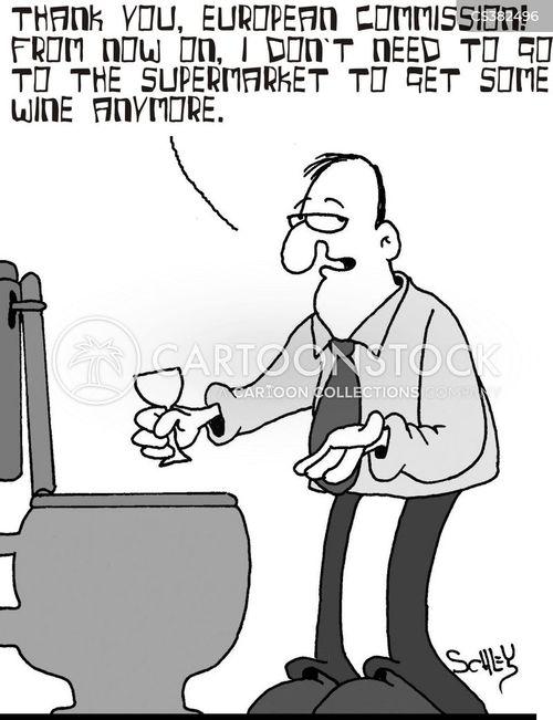 wine lakes cartoon