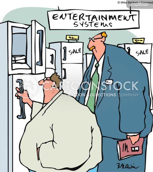 entertainment system cartoon