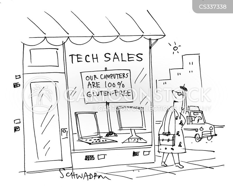 computer shop cartoon