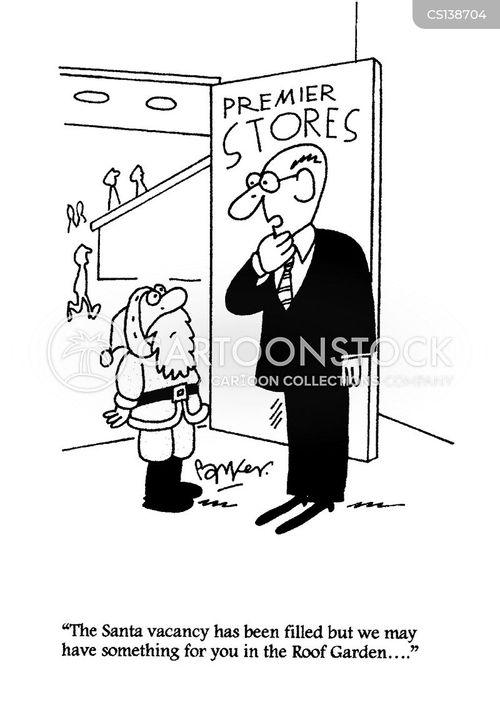 christmas jobs cartoon