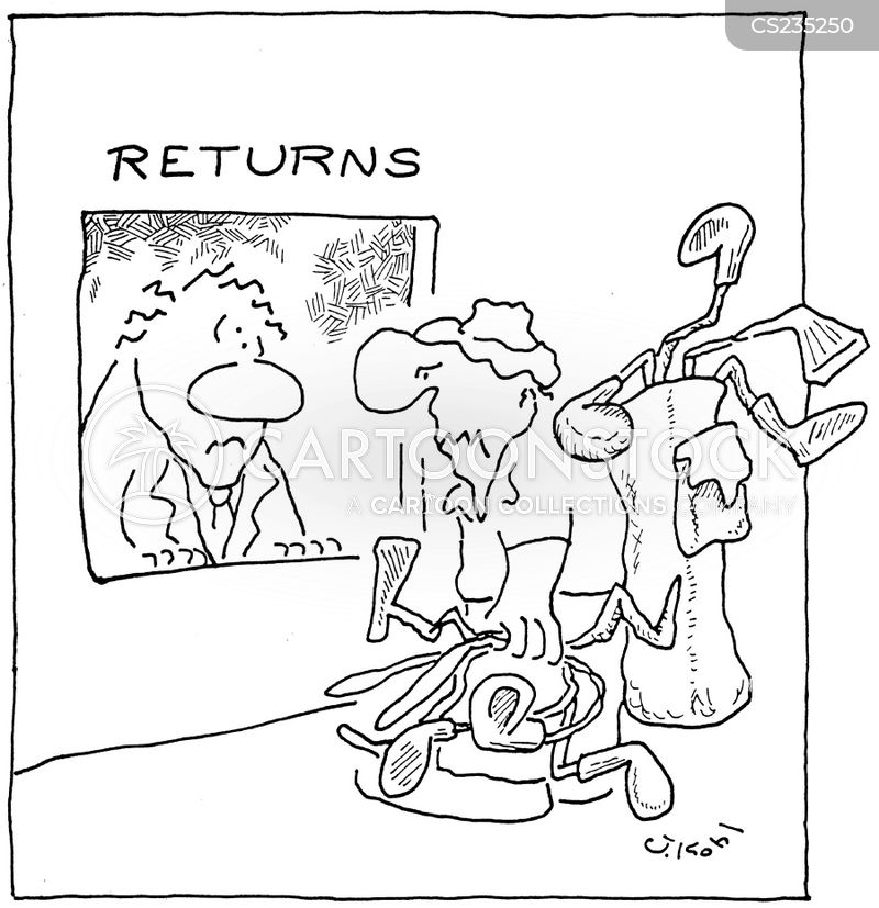 customer returns cartoon