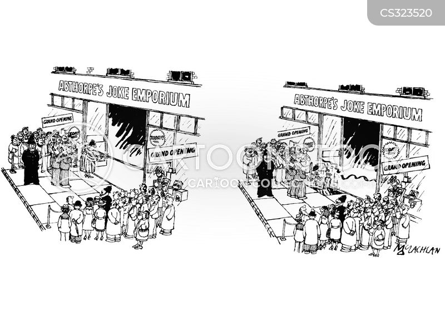cut the ribbon cartoon