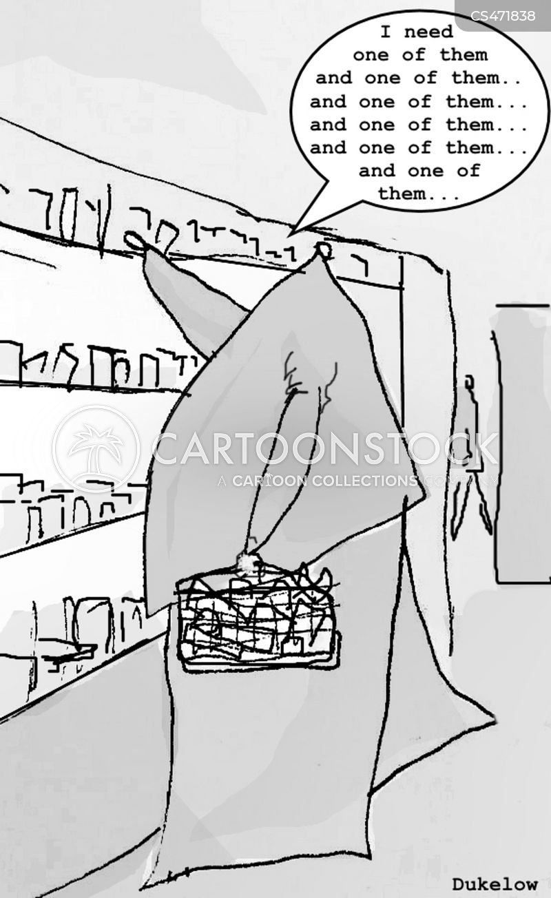 food markets cartoon