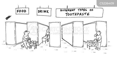 supermarket aisle cartoon