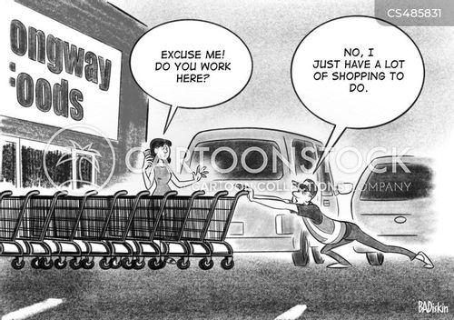 supermarket stores cartoon