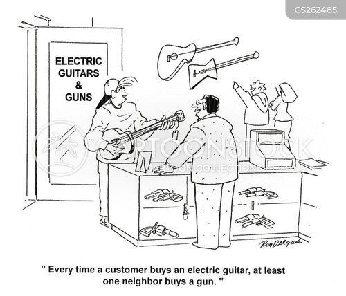 electric guitars cartoon