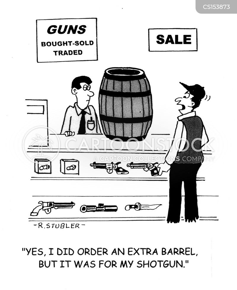gun barrel cartoon
