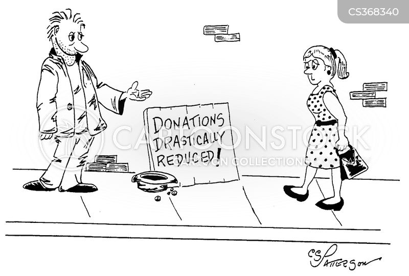 pan handling cartoon