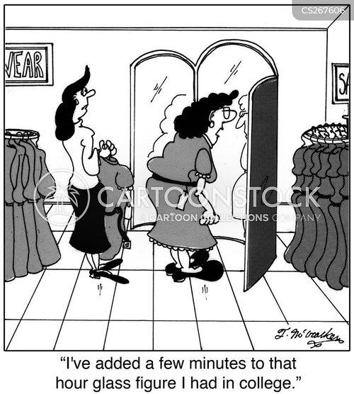 buying clothes cartoon