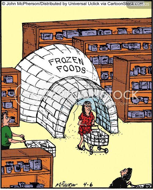 frozen foods cartoon