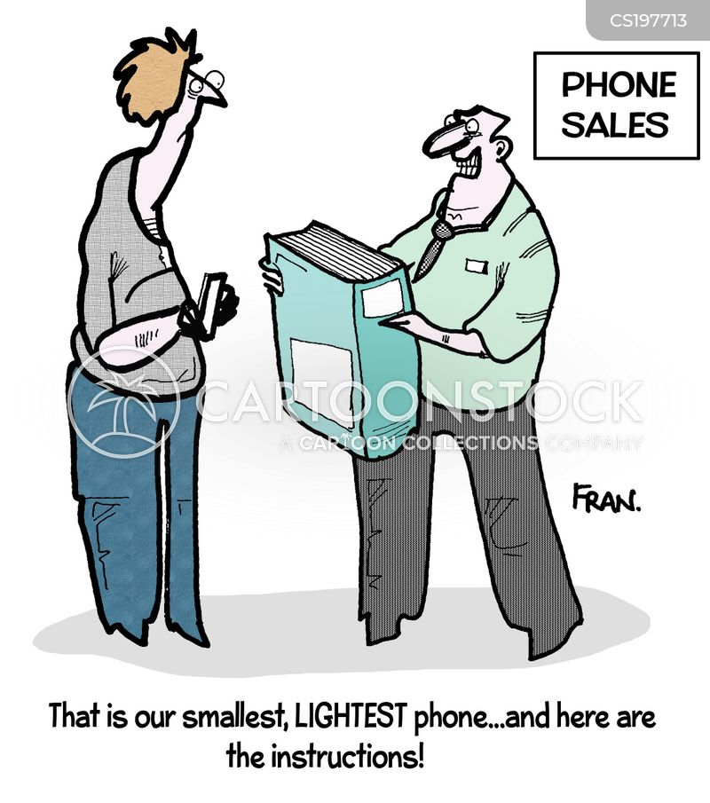 Phones Sales Cartoons And Comics Funny Pictures From Cartoonstock
