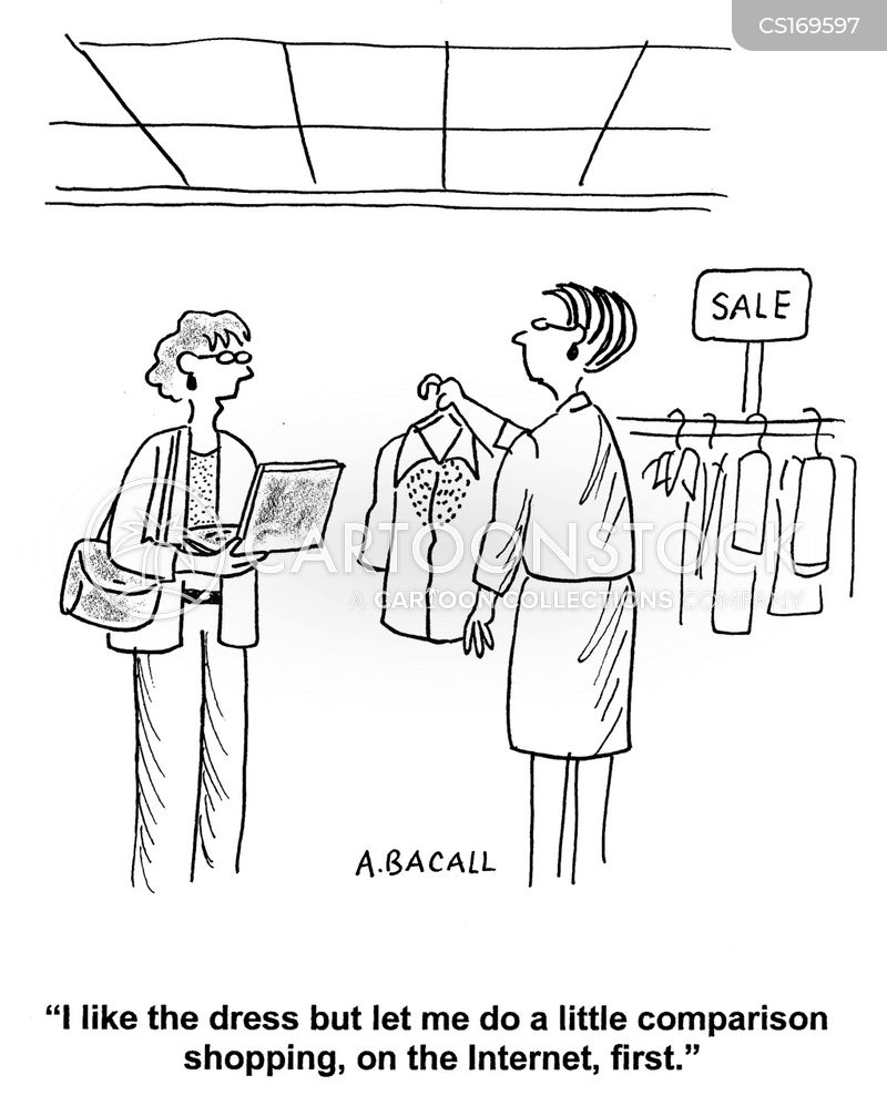 store assistants cartoon