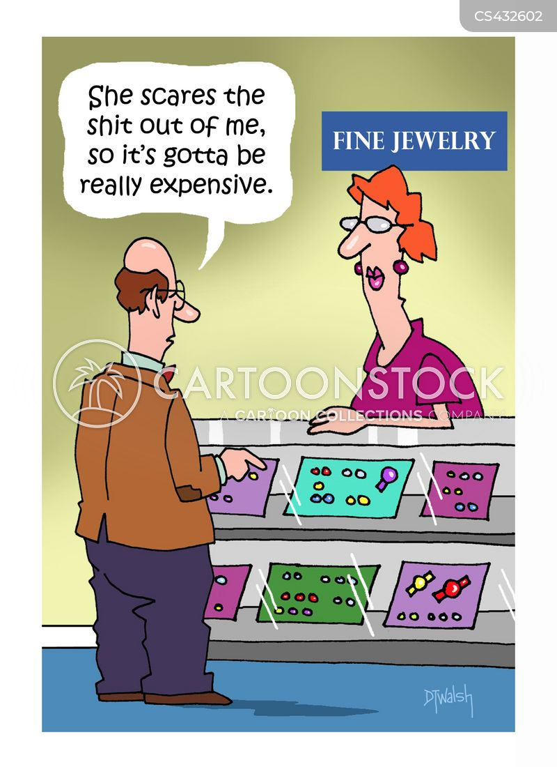 jewellery shop cartoon