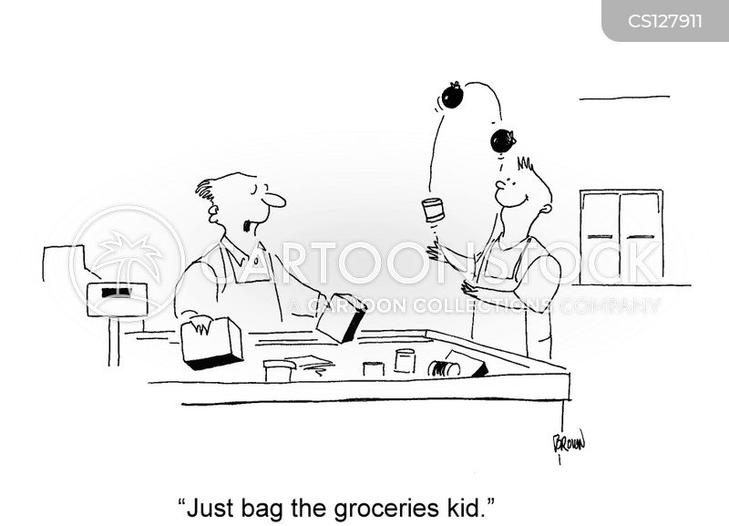 bag boy cartoon