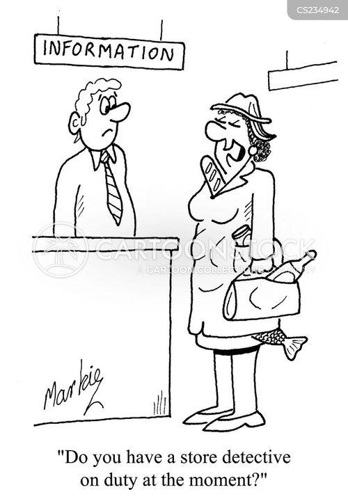 shop detective cartoon