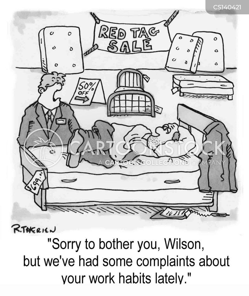 work habits cartoon
