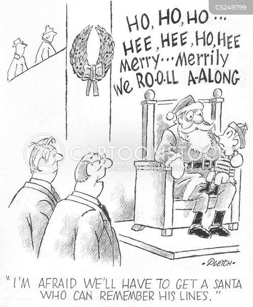 store santa cartoon