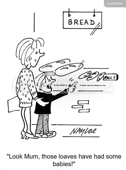 bread roll cartoon
