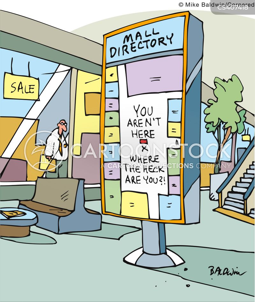 retail park cartoon