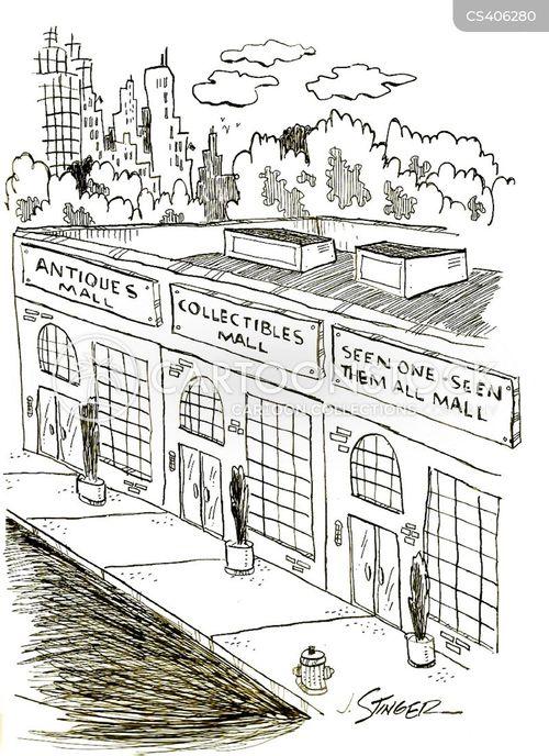 shopping centres cartoon