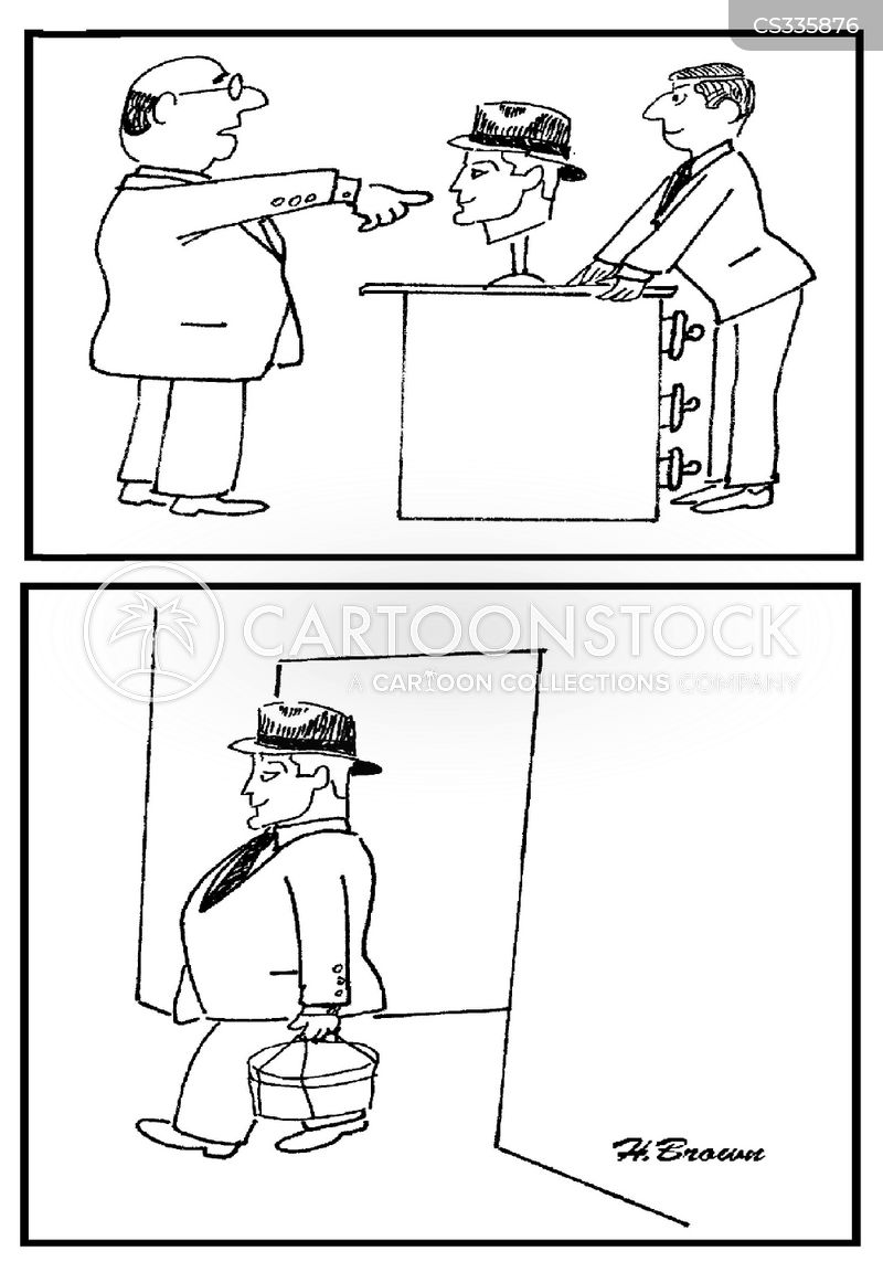 hat stores cartoon