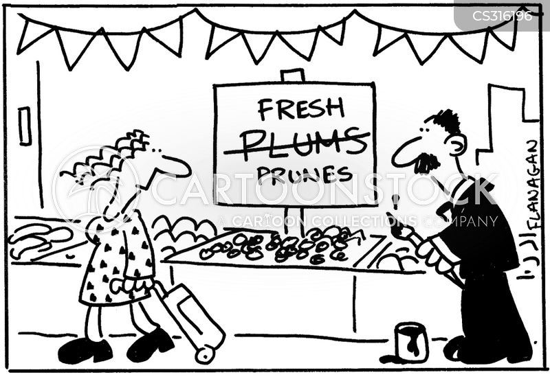 fruit sellers cartoon